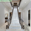 cầu thang đá trắng volakas
