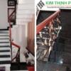cầu thang đá xà cừ xanh đen