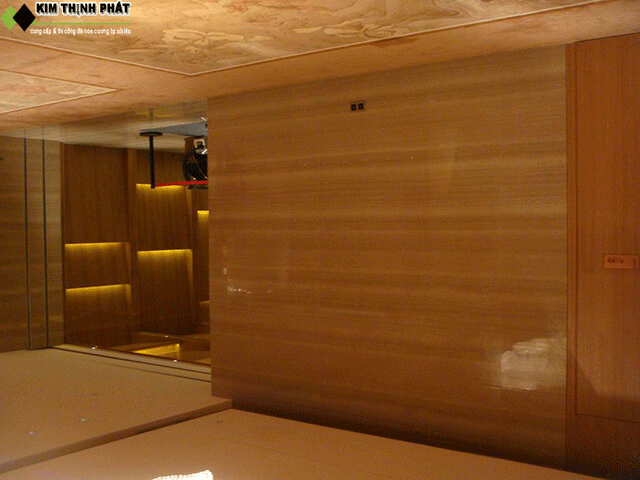 công trình đá xám vân gỗ