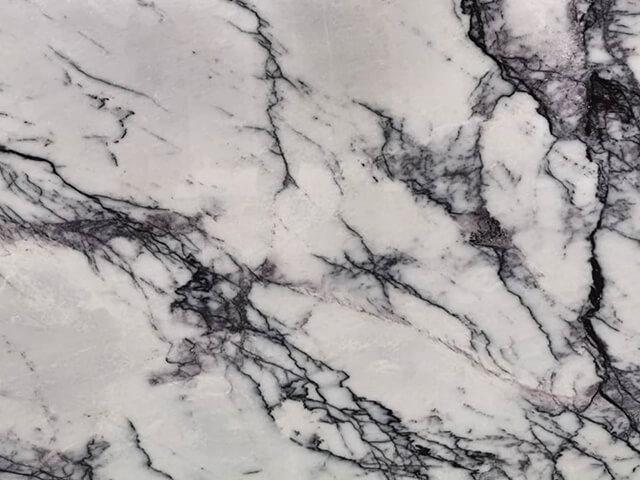 đá marble trắng milas lilac