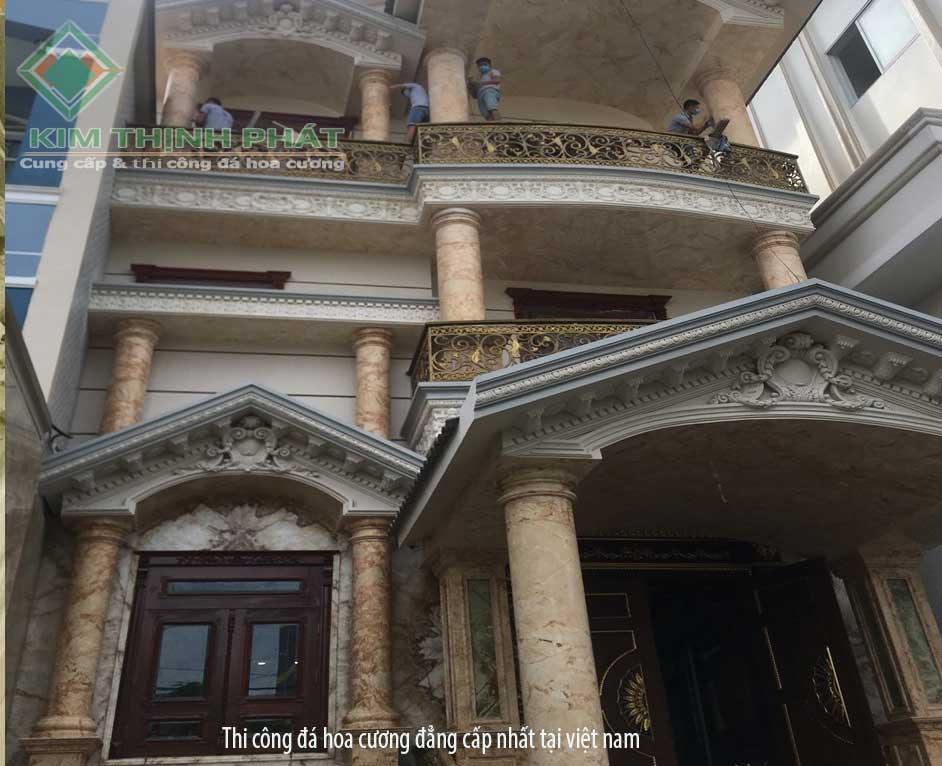 công trình ốp cột đá hao cương cho biệt thự, nhà phố, khách sạn, công trình cao cấp