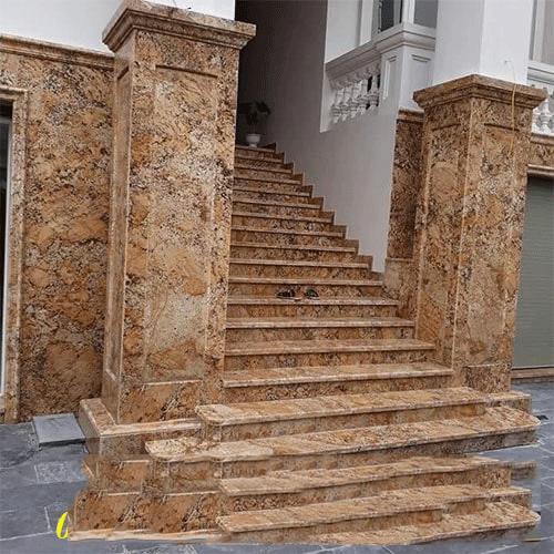 mẫu cột vuông đá hoa cương