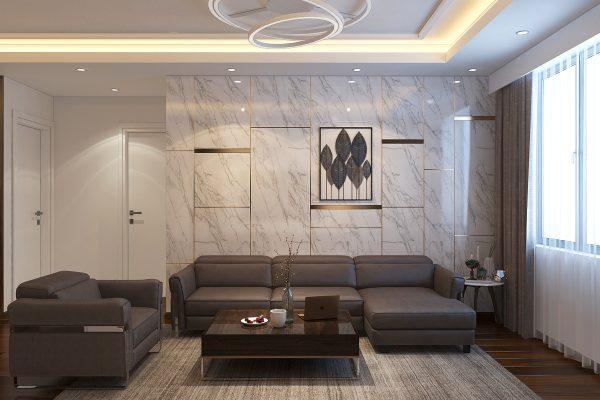 mẫu đá ốp tường phòng khách đẹp