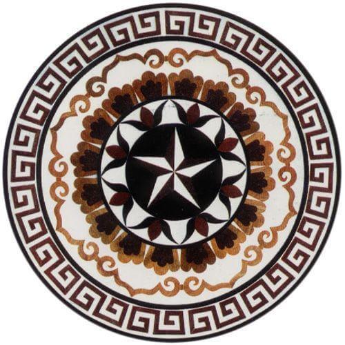 hoa văn đá granite hình tròn
