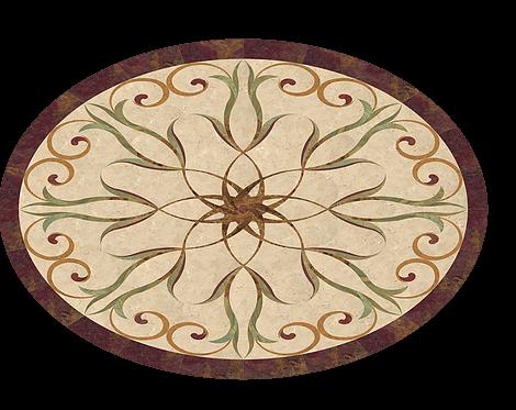 hoa văn đá granite hình oval