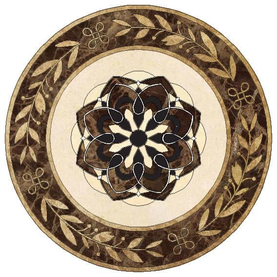 hoa văn đá hình tròn