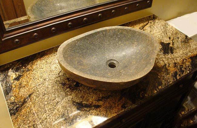 Bàn đá dành cho lavabo đặt trên bàn: