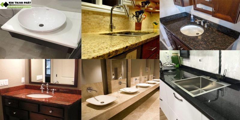 ứng dụng đá hoa cương cho bàn lavabo