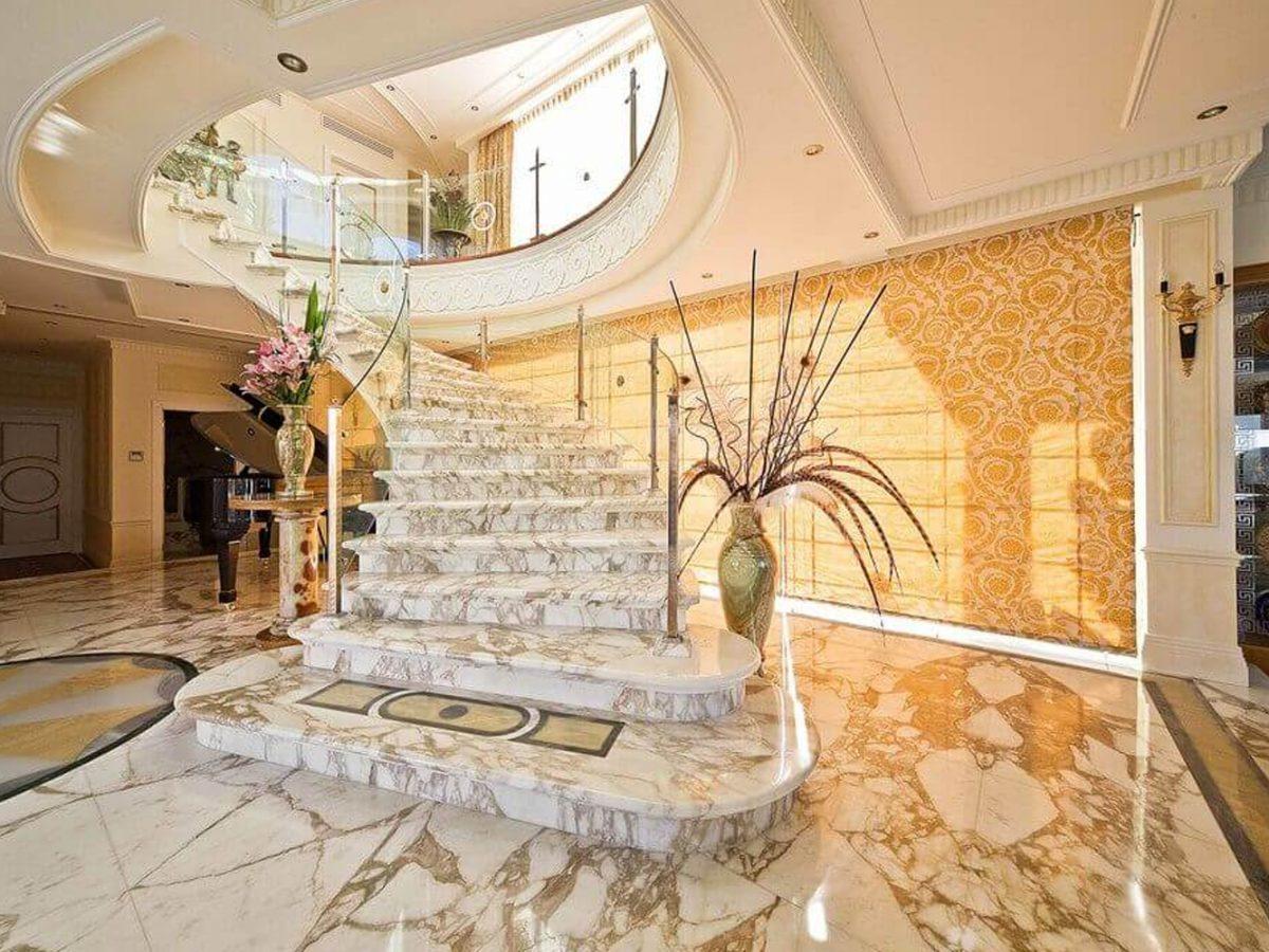 cầu thang đá marble