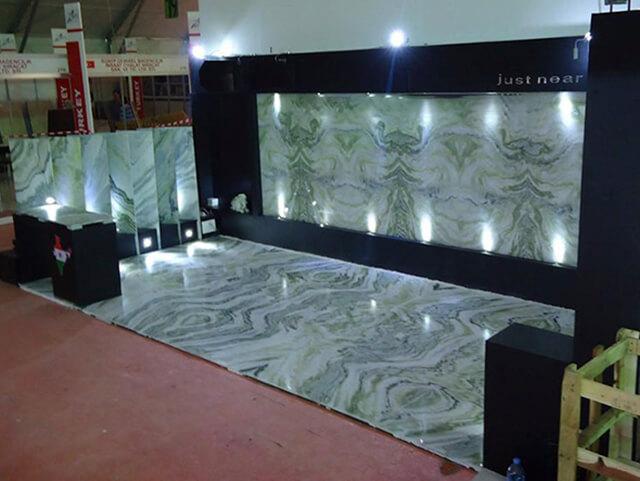 Công trình Tấm đá marble xanh ngọc