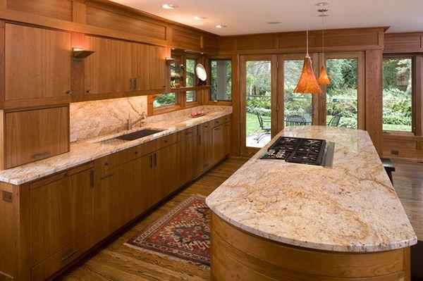 đá ốp bàn bếp màu vàng trắng
