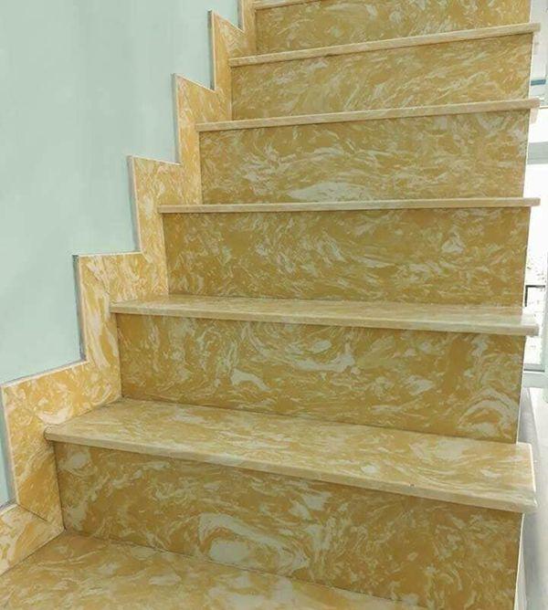 Đá cầu thang màu vàng nhân tạo