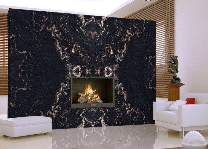 Ốp tường Tấm Đá Granite Đen Gucci